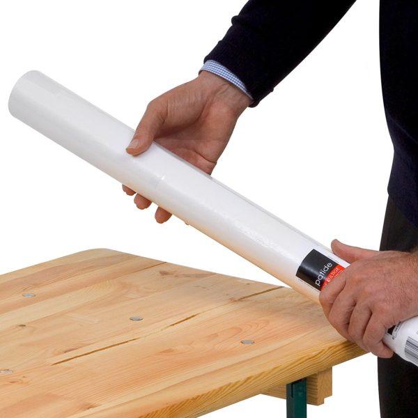Papiertischdecke-patide, Biertisch, ruck-zuck aufgedeckt, kein Tackern, patentierte Technik