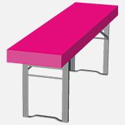 Papiertischdecke für Biertisch, bedrucken, Event, Veranstaltung, Gartenparty, magenta,