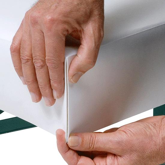 patide, Papiertischdecke, Handling, patente Ecke