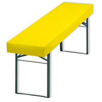 Papiertischdecke patide, bedruckt, gelb, Husse, Biertisch, wasserfest