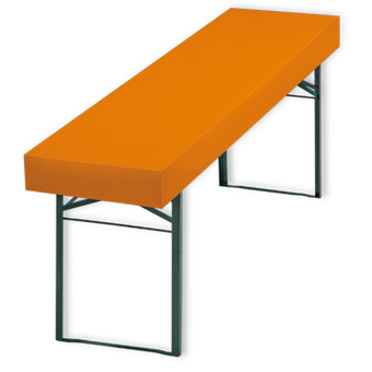 Papiertischdecke patide, bedruckt, orange, Husse, outdoor, wasserfest, Biertisch