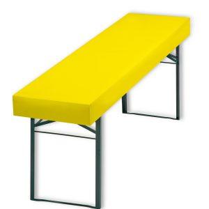 Papiertischdecke gelb, Tischdecke, Biertisch, wasserfest, reißfest, Event, Event-Design, Raum-Konzept,