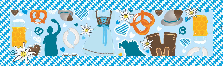 Papiertischdecke, wasserfest, Oktoberfest, Gaudi, Biertisch, Event