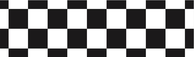 Tischdecke, schwarz-weiß, Zielflagge, bedruckt, Papiertischdecke, wasserfest, Event, Party