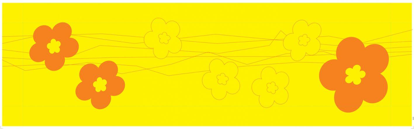 Papiertischdecke-patide, Husse, Biertisch, Tischdecke, bedruckt, flower-power, wasserfest, reißfest, personalisierbar