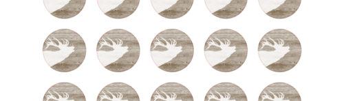 Glasuntersetzer, Bierdeckel, Motiv, Hirsch, Weihnacht, festes Papier, individuell