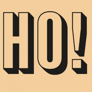 Banner aus Papier, Design; hohoho, Weihnachten, Papiertischdecke, wasserfest, reißfest,