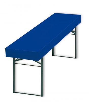 Papiertischdecke blau für Biertisch, wasserfest, passgenau, patentiert, Event-Design, Raum-Konzepte, Veranstaltungen, Feier, Party, Garten