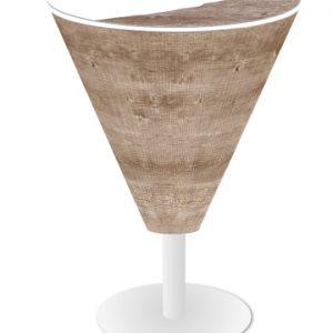 Papiertischdecke, rund, Bistro-Stehtisch, Husse, bedruckt, wasserfest, Event, Feier, Event-Design, Raum-Konzept