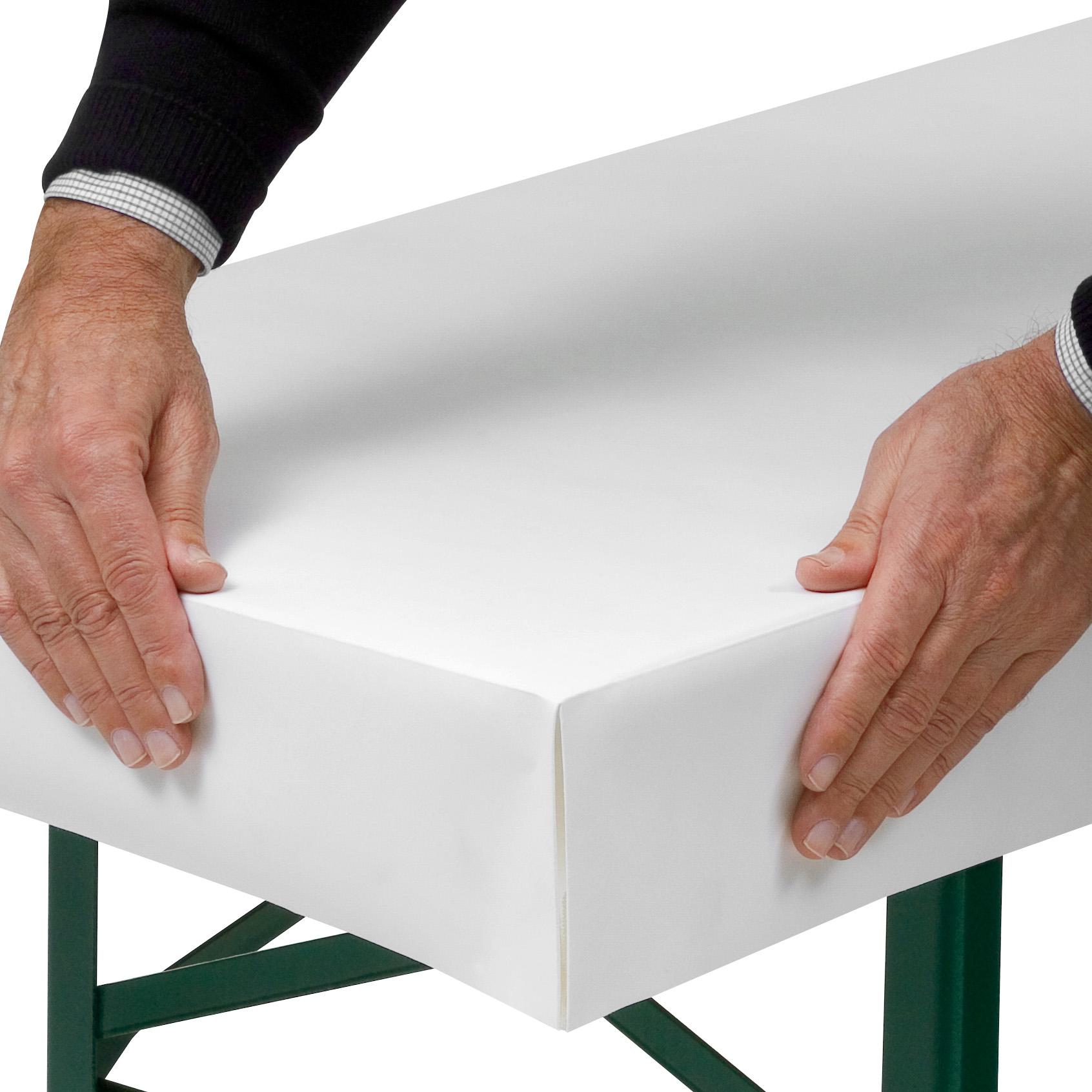 Papiertischdecke patide, patentierte Technik, wasserfest und bedruckbar, beschreibbar