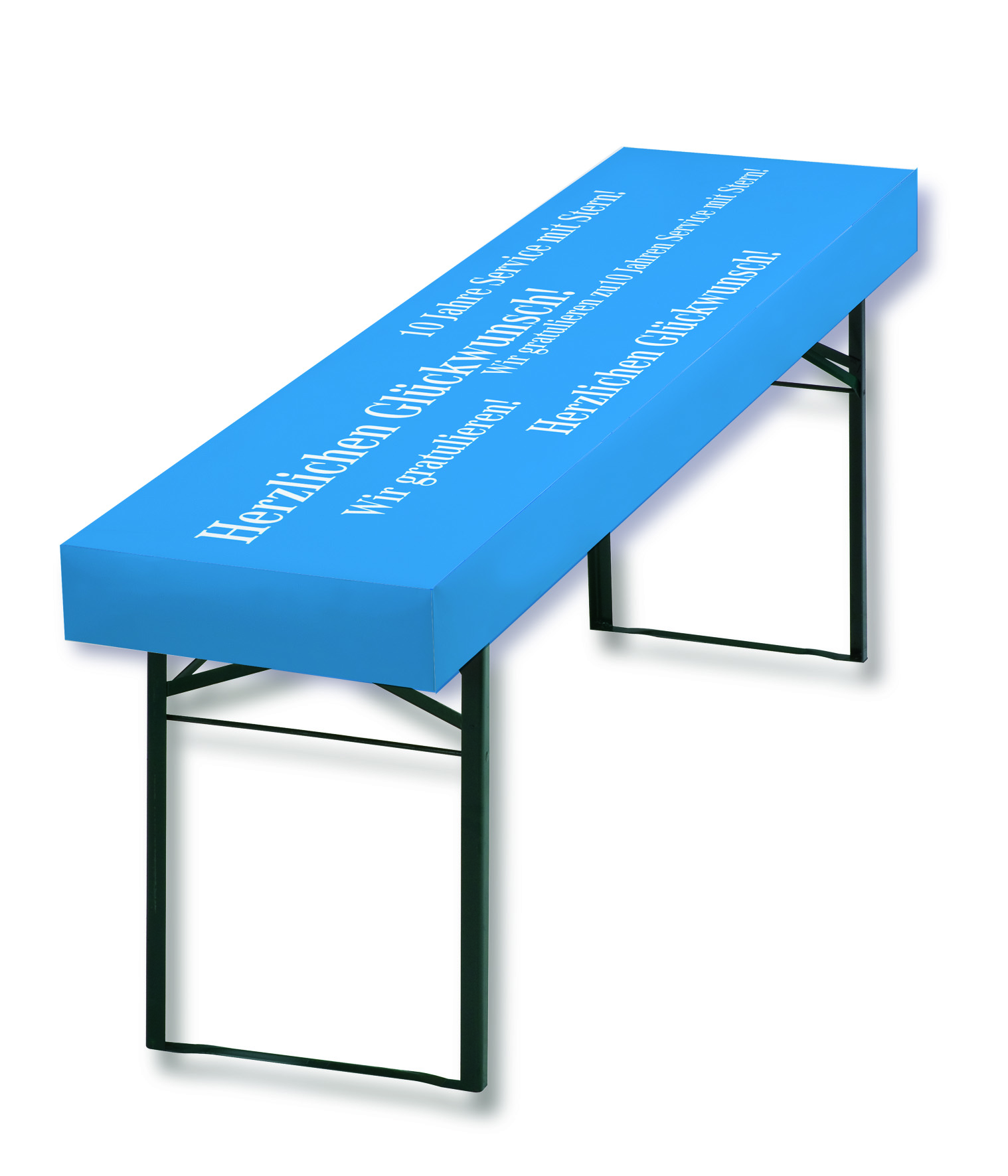 Papiertischdecke, patide, individuell bedruckt, your message, Event, Veranstaltung, Biertisch, wasserfest
