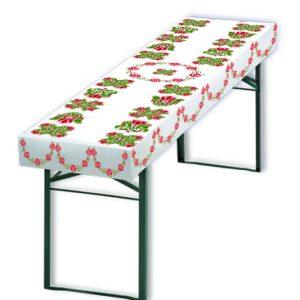 Papiertischdecke, Biertisch, rot, grün, Traum, Tischdecke, Feier, outdoor, Veranstaltung, Event, wasserfest, reißfest, formstabil. indidivduell bedruckbar