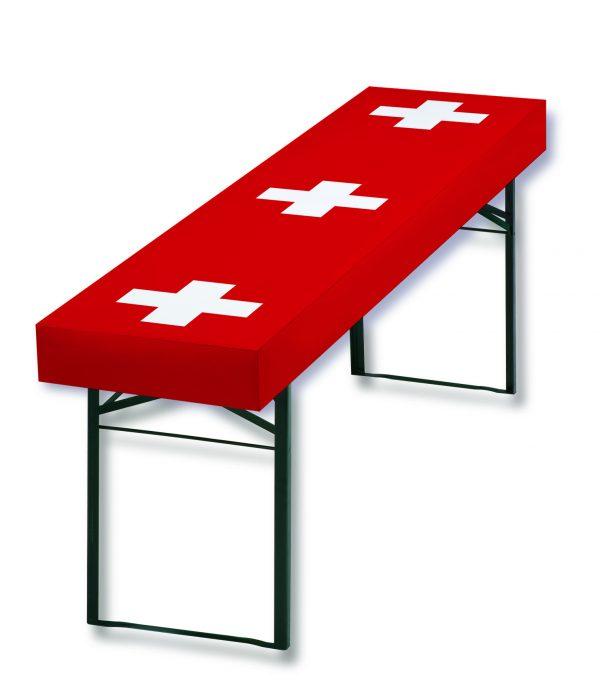 Papiertischdecke, Schweiz, Sportveranstaltung, Biertisch, Outdoor, Event, wasserfest, reißfest, bedruckbar, individuell