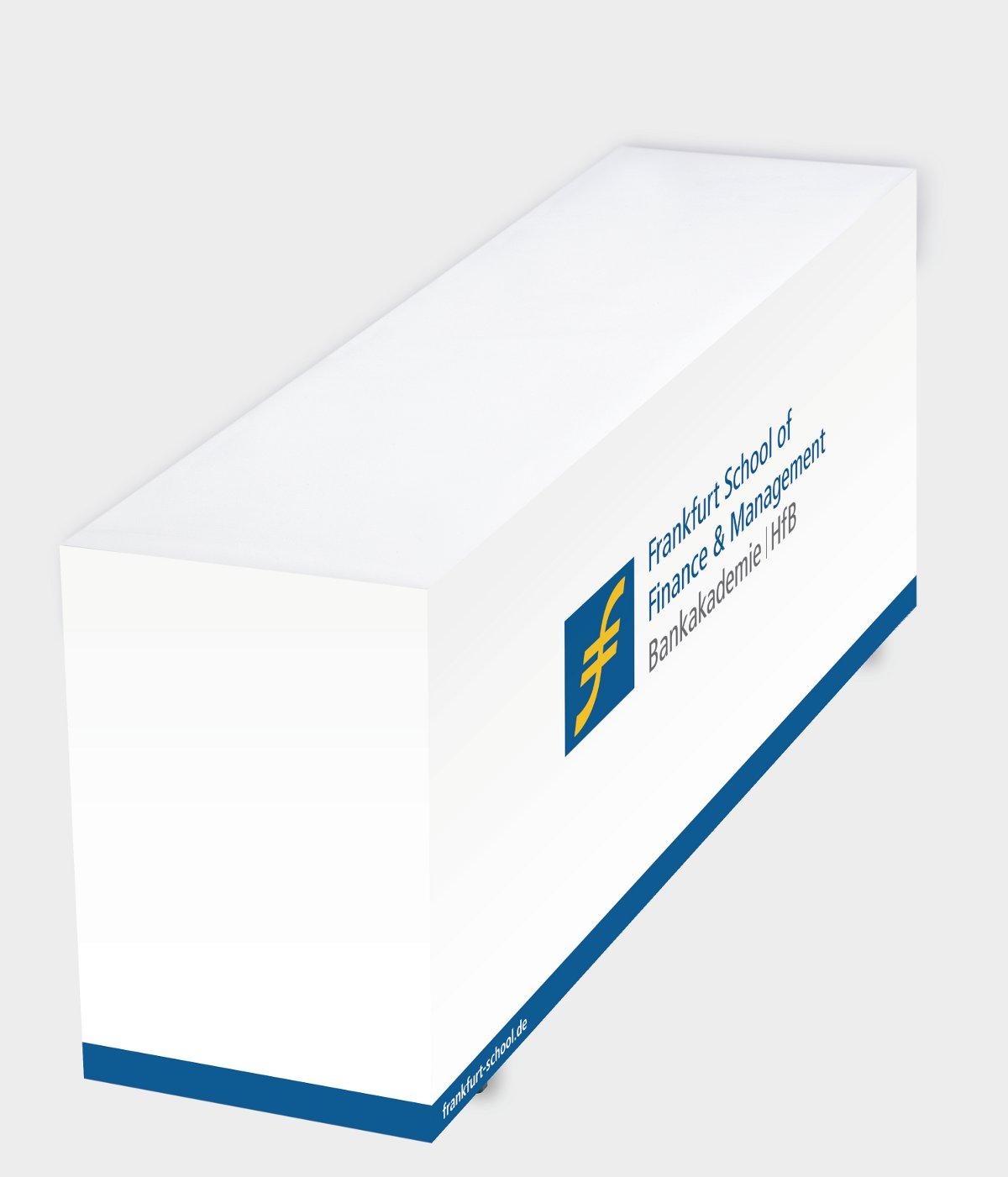 skirting, Papier, Präsentationstisch, Banketttisch, individuell, bedruckt