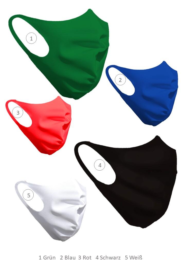 Mund-Nasen-Maske, waschbar, wiederverwendbar, made in Germany